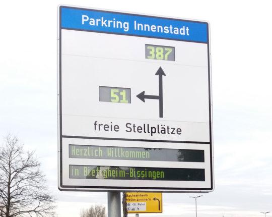 Parkleitsystem der Stadt Bietigheim