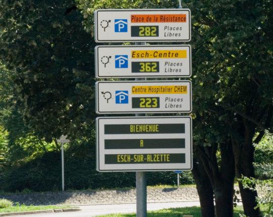 Parkleitsystem der Stadt Esch (Frankreich)