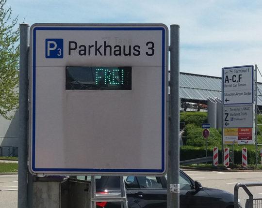 Parkleitsystem mit LED-Technik