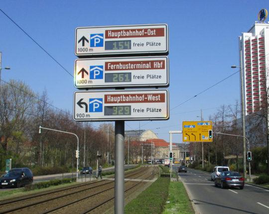 Parkleitsystem der Stadt Leipzig